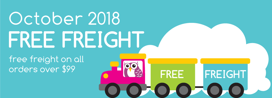 October 2018 Free freight on all orders over $99