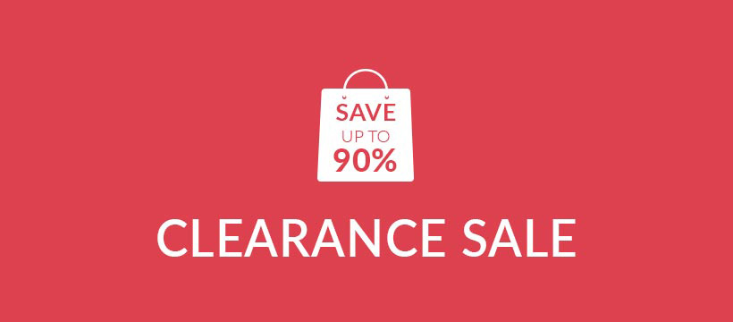Clearance Sale | Save UP TO 90%
