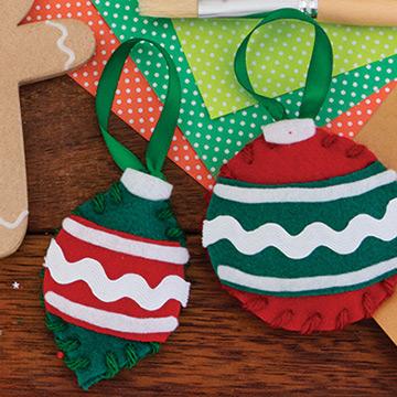 Fabric Christmas craft materials.