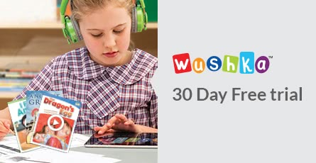 Sign up for a free trial of Wushka, the digital levelled reading program with over 600 books