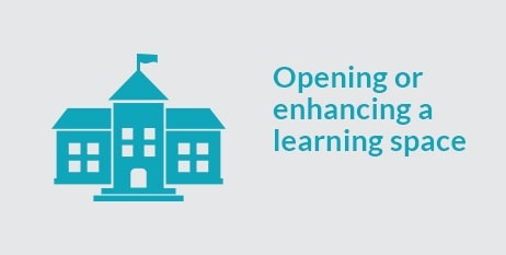 Opening or enhancing a learning space