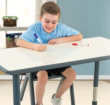 The flexi-stools support an active learning environment