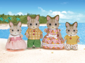 Sylvanian family at the beach