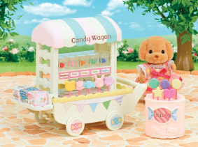 Sylvanian street food seller with their Candy Wagon