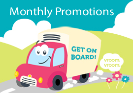 Monthly promotions, get on board