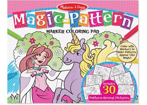 Melissa Doug Magic Pattern Marker Colouring Pad
