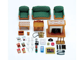 Deluxe Living Room Set Is A Relaxed And Cosy Setting With Over 35 Detailed  Pieces Including A Glowing Fireplace With Extra Logs, A Comfortable Sofa  And ...