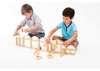 Natural Spaces – Wooden Mirror Blocks – 24 pieces