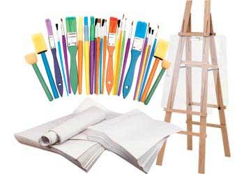 Creatistics Art Easel Paper And Brush Kit Mta Catalogue