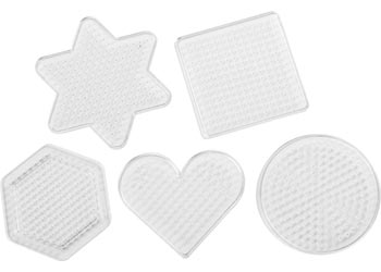 Assorted Shapes Bead Boards for 5mm Beads – Pack 5