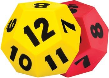 soft foam dice set of 2 12 sided mta catalogue