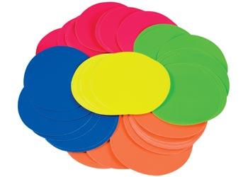 Fluorescent Paper Circles 12cm – 120 Pcs