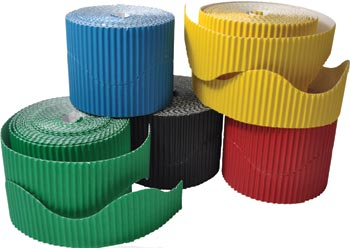 Corrugated Border Roll 57mm x 30m Blue