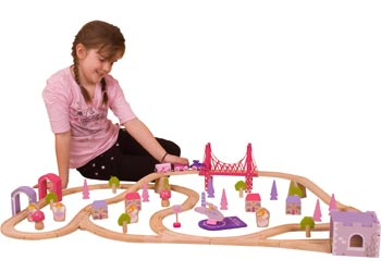 Bigjigs – Fairy Town Train Set – 75pcs - MTA Catalogue