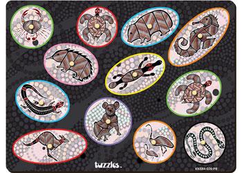 Aboriginal Art Colour Match Knob Puzzle