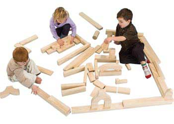 Natural Spaces U2013 Unit Block Set U2013 Five Children Set U2013 56 Pieces