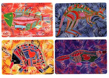 Tuzzles Aboriginal Art Animal Puzzles Set Of 4 Mta Catalogue
