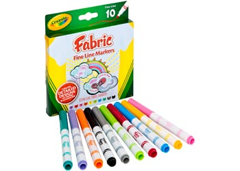 Crayola Extra Bright Fabric Markers Pack Of 10 Mta Catalogue