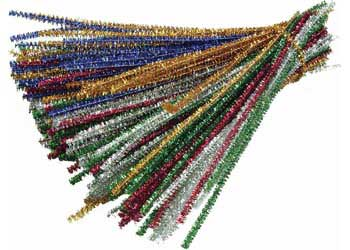 Tinsel Pipe Cleaners – Pack of 150