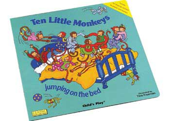 Ten Little Monkeys Book with Cut-Outs