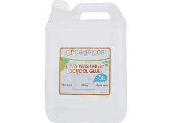 Creatistics PVA Washable School Glue 5 Litres