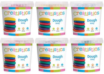 Creatistics Dough Set of 6 x 900g Tubs