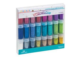Creatistics Glitter Shaker Tubes Astd Colours PK24
