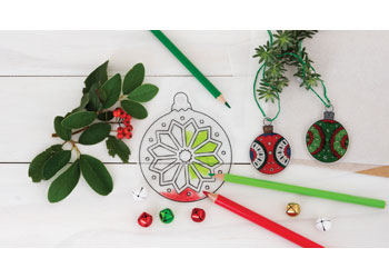 Christmas Shrink Film Decorations – Pack of 12