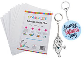 photograph regarding Printable Shrink Film identified as White Printable Shrink Movie Pack of 12 - MTA Catalogue
