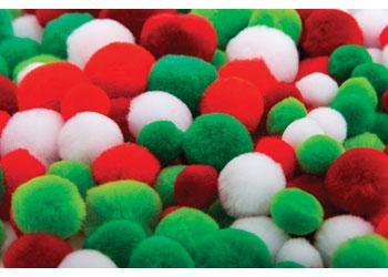 Christmas Pom Poms – Pack of 300