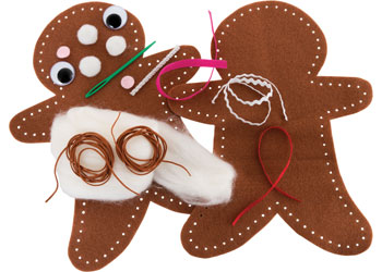 Felt Gingerbread Sewing Kit – Pack of 10