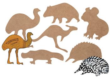 AUSTRALIAN ANIMAL FUNDRAISER GIFT ECHIDNA Soft Material FINGER PUPPET