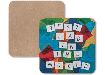Square Wooden Coasters – Pack of 20