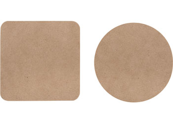 20 Blank Coasters for all your Art and Craft work-Round and Square