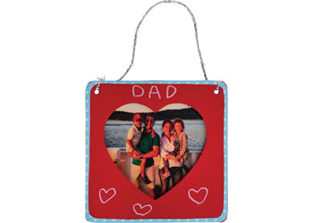 Wooden Hanging Heart Frame – Pack of 10