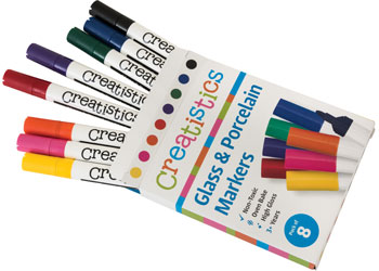 Glass & Porcelain Markers -Pack of 8