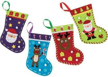 Craft kits christmas craft art craft felt christmas stockings pack of 20 craft kits solutioingenieria Images