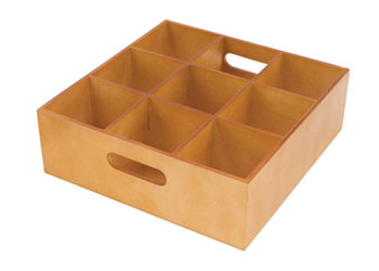 Wooden Sorting Tray – 9 holes