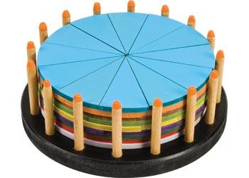 Birthday Cake Round 20 Dia X7 3cm 51 Pieces Mta