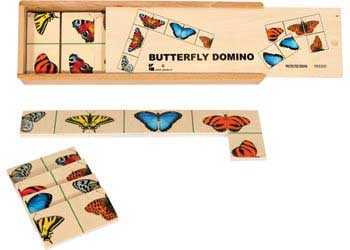 Realistic Butterfly Domino 28 Pieces