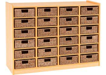Milan Education Storage Unit With 24 Woven Baskets Mta Catalogue