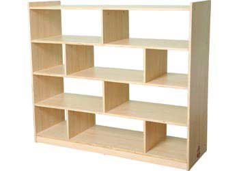 Natural Spaces 4 Shelf 10 Compartment Cabinet