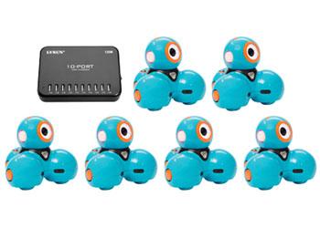Dash – Set of 6 Robots & 10-Port USB Charger