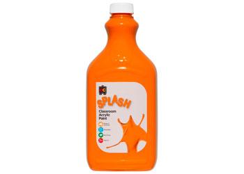 Classroom Splash Acrylic Paint 2L Tangy Orange