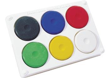 Tempera Block Paint Set of 6 Colours
