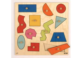 Geometric Shapes Puzzle Inlay board