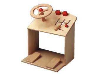 Steering Toy Wooden 37 x 37 x 39cm H