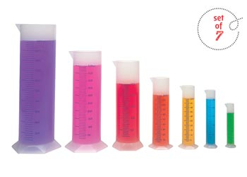 Graduated Cylinders Polypropylene – Set of 7