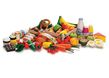 Assorted Wooden Food – 43 pieces