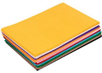 Felt Sheets 10 Colours 20 x 30cm – Pack of 50
